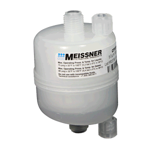Meissner standard capsule filter for the Velocity Coater by Coburn Technologies.