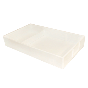 Job Tray with Divider in White