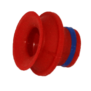 Red vacuum suction cup for the Velocity Spin Optical Lens Coater. Coburn Technologies offers spare parts for all surfacing equipment.