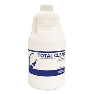 Total Clean half gallon jug for the Duality Lens De-taper and Cleaner. Coburn Technologies offers consumables for all surfacing equipment.