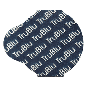 TruBlu optical lens edging pads by Coburn Technologies for blocking lenses in the finishing process.