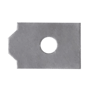 DuoGrip ectangular, half eye with open center edging pad, gray.